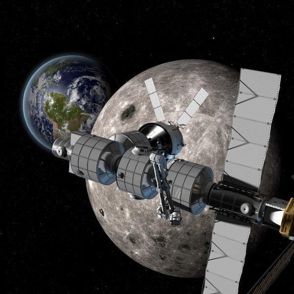 Boeing,авиация,космос, Boeing представила концепт окололунной станции