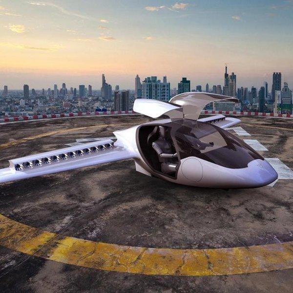 авиация,самолёт, Конвертоплан Lilium Jet - первый в мире электрокар вертикального взлёта и посадки