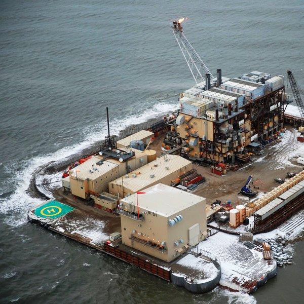 США,природа,геология,океан,энергетика, Нефть Аляски: арктическая добыча с искусственного острова